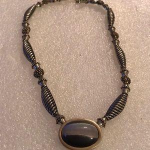 Vintage jasper necklace